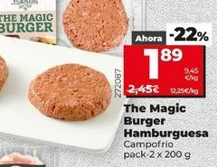 Oferta de The magic burguer hamburguesas por 1,89€
