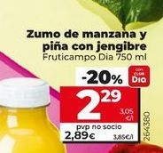 Oferta de Zumo de manzana y piña con jengibre Dia por 2,29€