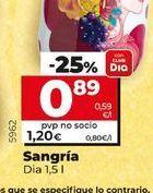 Oferta de Sangría Dia por 0,89€