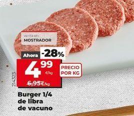 Oferta de Hamburguesas de vacuno  por 4,99€