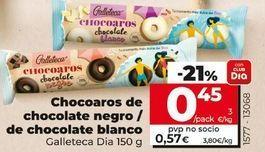 Oferta de Chocoaros de chocolate negro/de chocolate blanco  por 0,45€