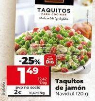 Oferta de Taquitos de jamón Navidul por 1,49€