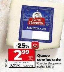 Oferta de Queso semicurado García Baquero por 2,99€