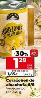 Oferta de Corazones de alcachofa por 1,2€
