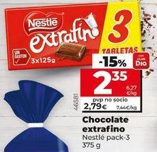 Oferta de Chocolate extrafino Nestlé por 2,35€
