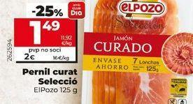 Oferta de Jamón curado elpozo por 1,49€