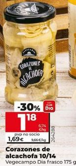 Oferta de Corazones de alcachofa Dia por 1,18€