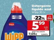 Oferta de Detergente líquido Wipp por 6,99€