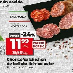 Oferta de Chorizo por 11,99€