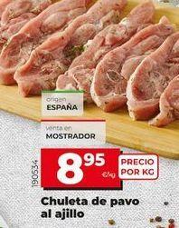 Oferta de Chuletas de pavo por 8,95€