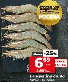 Oferta de Langostinos crudos por 6,69€
