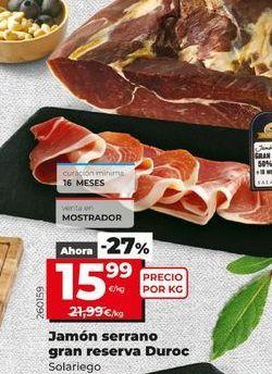 Oferta de Jamón serrano por 15,99€