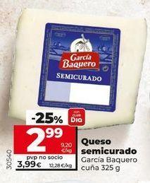Oferta de Queso semicurado García Baquero por 3,95€