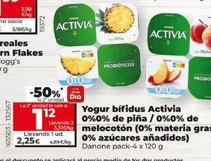 Oferta de Yogur bífidus Danone por 2,19€