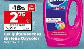 Oferta de Quitamanchas Neutrex por 3,39€