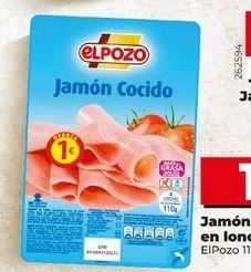 Oferta de Jamón cocido elpozo por 1€