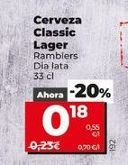 Oferta de Cerveza por 0,18€