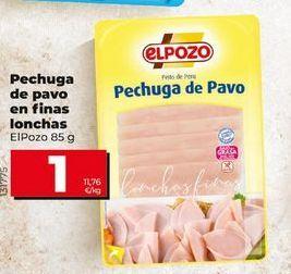 Oferta de Pechuga de pavo elpozo por 1€