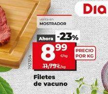 Oferta de Filetes de vacuno por 8,99€