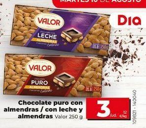 Oferta de Chocolate Valor por 3€