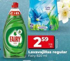 Oferta de Detergente lavavajillas Fairy por 2,59€