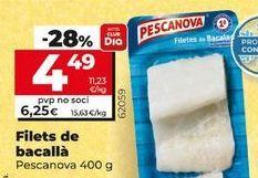 Oferta de Filetes de bacalao por 6,25€