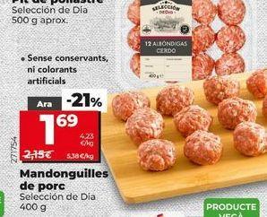 Oferta de Albóndigas por 1,69€