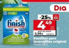 Oferta de Pastillas para lavavajillas Finish por 5,99€