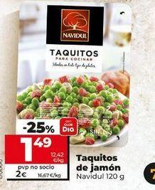Oferta de Tacos de jamón Navidul por 2€