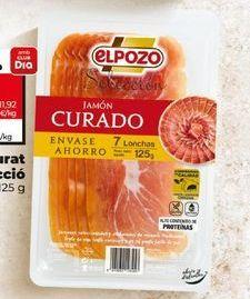 Oferta de Jamón curado elpozo por 2€