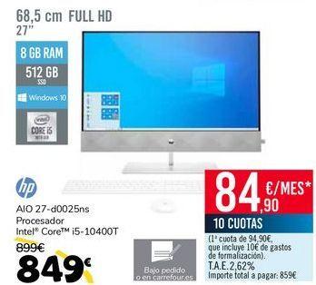 Oferta de HP AIO 27-d0025ns por 849€