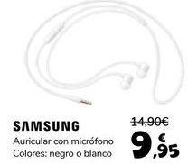 Oferta de SAMSUNG Auricular con micrófono  por 9,95€