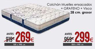 Oferta de Colchón muelles ensacados + gafeno + Visco por 269€