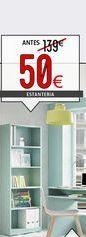 Oferta de Estantería juvenil verde agua por 50€