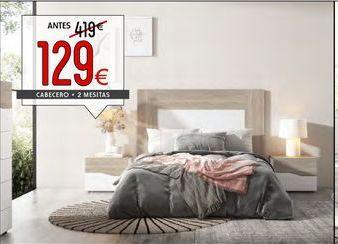 Oferta de Cabecero + 2 mesitas de noche por 129€