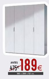 Oferta de Armario ropero Maz por 189€