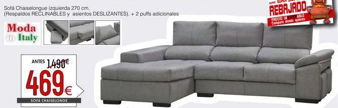 Oferta de Sofás y sillones por 469€