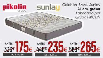 Oferta de Colchones Pikolin  Sunlay por 235€