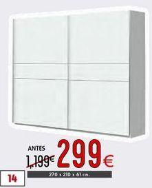 Oferta de Armario con puertas correderas Winner por 299€