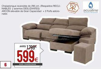 Oferta de Sofás y sillones Vela por 599€
