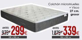 Oferta de Colchón micromuelles + visco por 299€