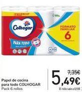Oferta de Papel de cocina para todo COLHOGAR  por 5,49€