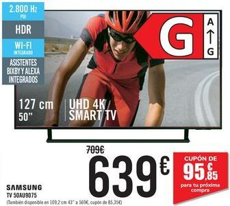 Oferta de SA,SUNG TV50AU9075 por 639€