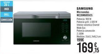 Oferta de Microondas MC28M6055CS SAMSUNG  por 169,15€