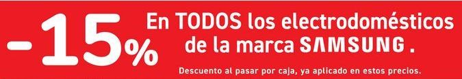 Oferta de En TODOS los electrodomésticos de la marca SAMSUNG  por