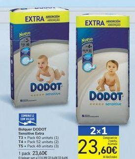 Oferta de Pañales DODOT Sensitive Extra  por 23,6€