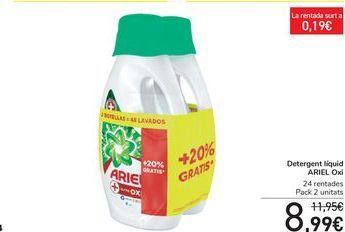 Oferta de Detergente líquido ARIEL Oxi  por 8,99€