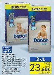 Oferta de Pañales DODOT Sensitive Extra  por