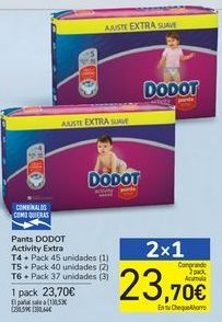 Oferta de Pañales DODOT Activity Extra  por 23,7€
