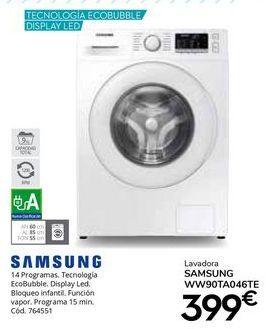 Oferta de Lavadora carga frontal Samsung por 399€